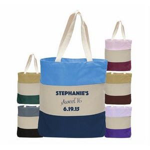 Canvas Tri Color Professional Tote Bag